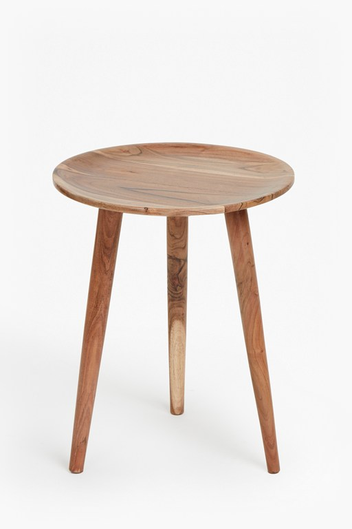acacia round side table