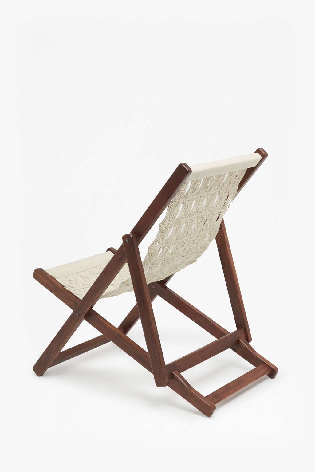 loading images. & Acacia Macrame Deck Chair | Collection | French Connection