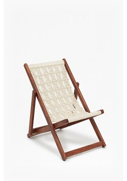 Acacia Macrame Deck Chair