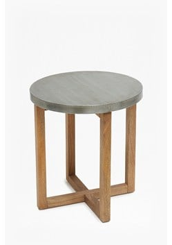 Round Zinc Side Table