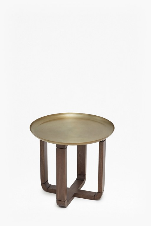 Complete the Look Brass Tray Table
