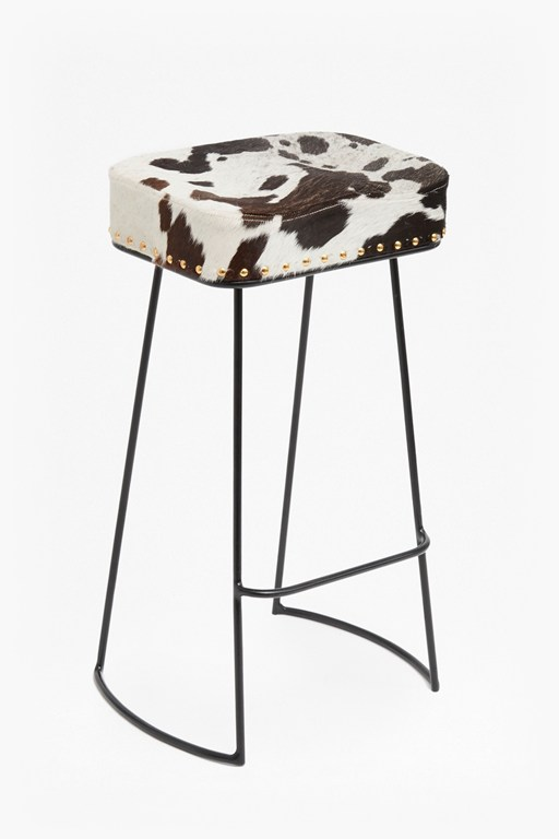 cowhide roger bar stool