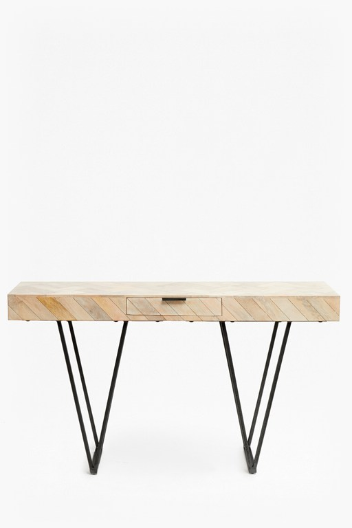 parquet console with drawer