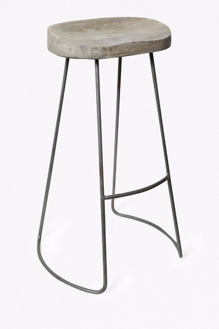 Roger large bar stool bar stools french connection for Exclusive barhocker
