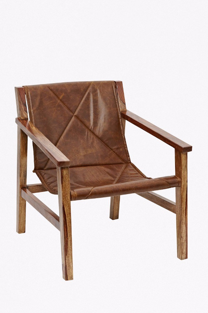 leather sling back chair collection french connection