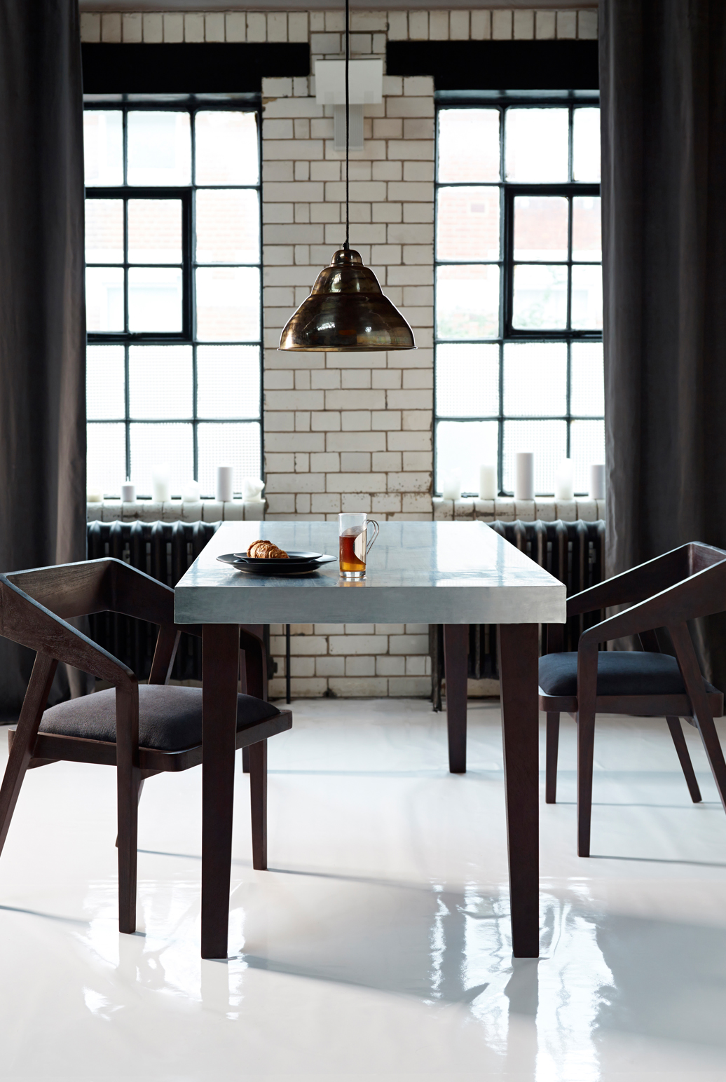 ... Zinc Dining Table. Loading Images.