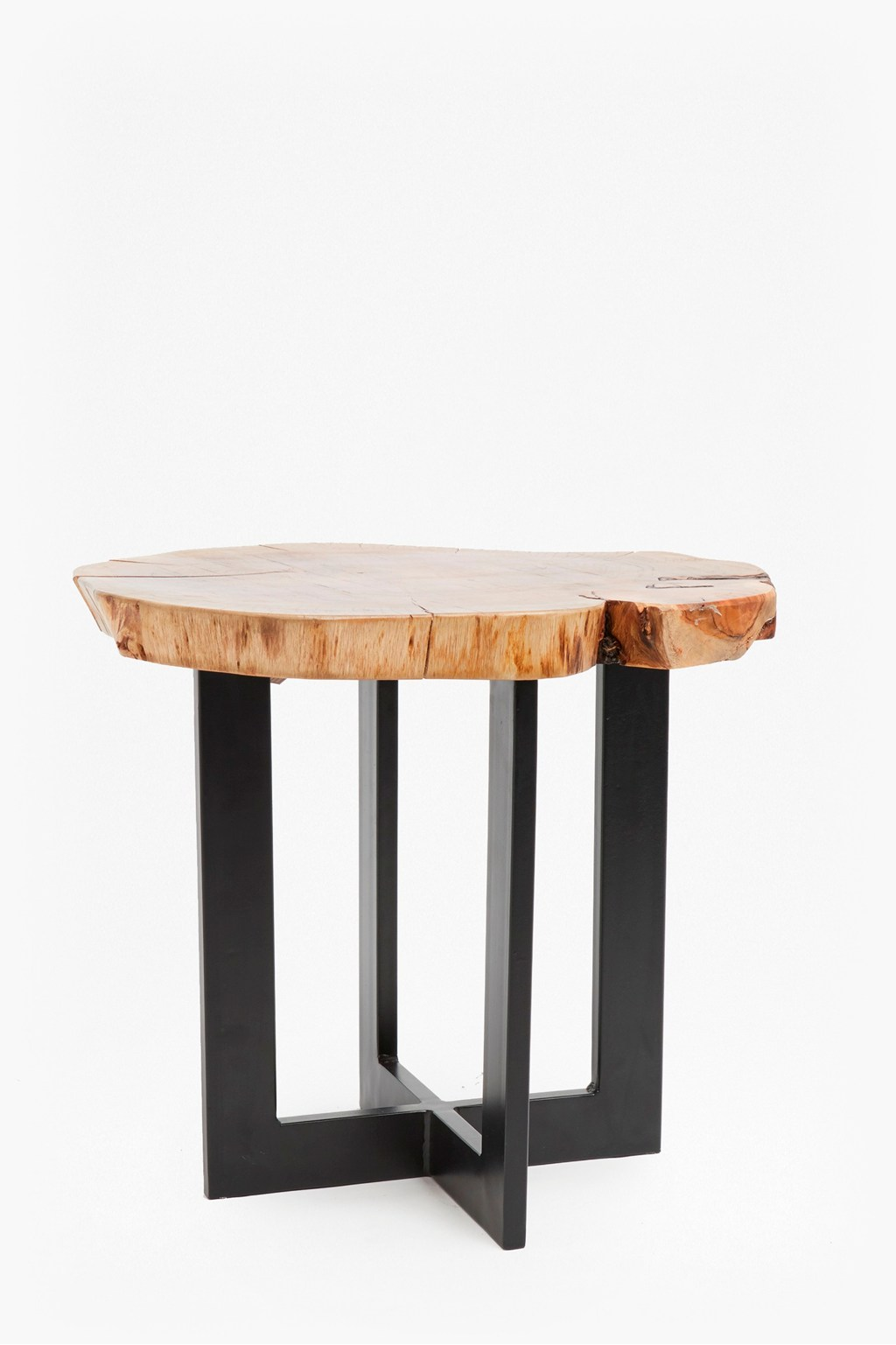 Natural Wood Coffee Table.Petrified Wood Side Table