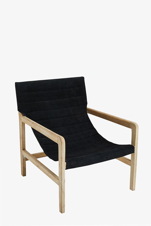 nightfall suede chair