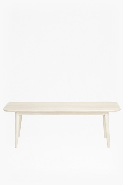 Shore White Wash Bench
