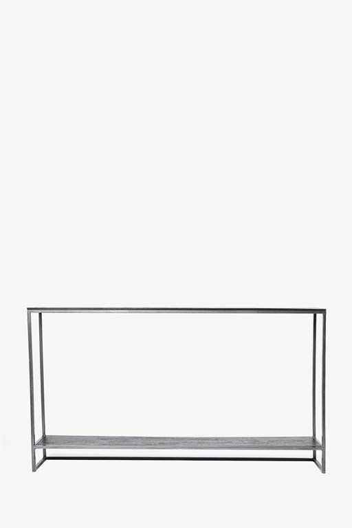 shelved shadow console table