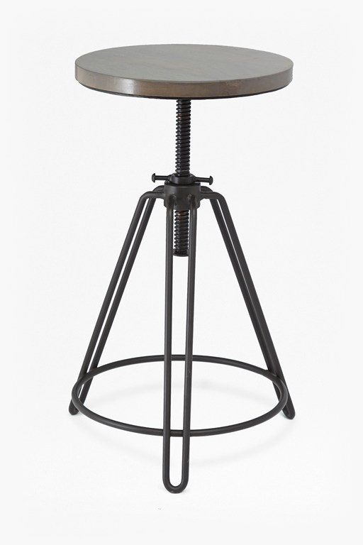 industrial timber bar stool