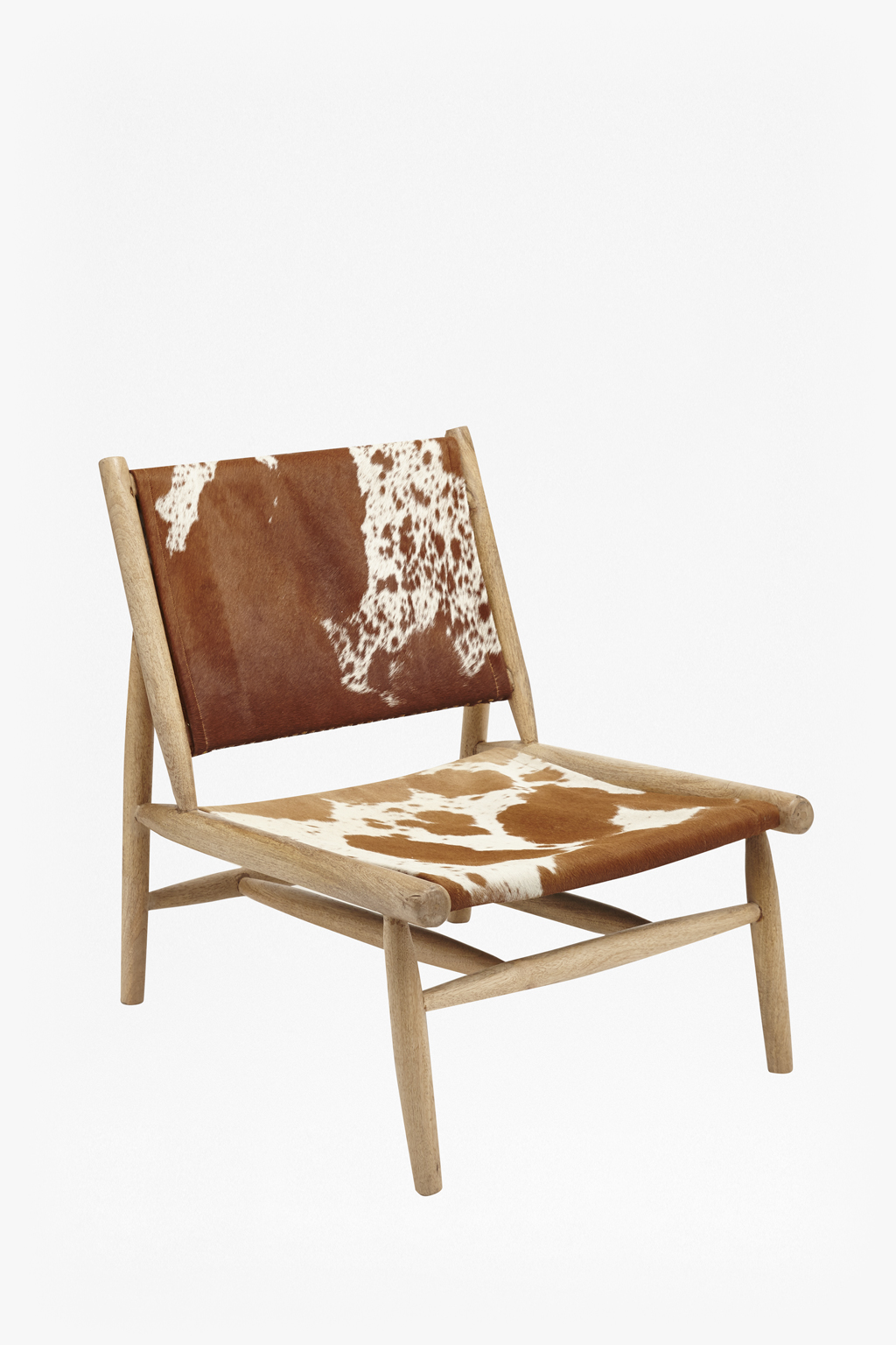 Cowhide leather chair loading images