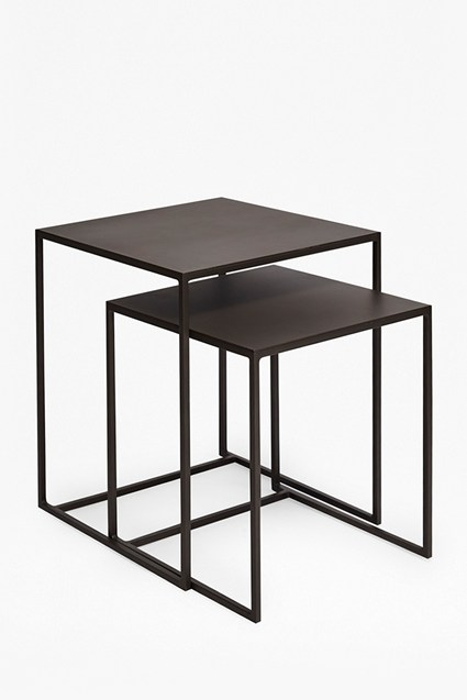Industrial Gunmetal Nest of Tables