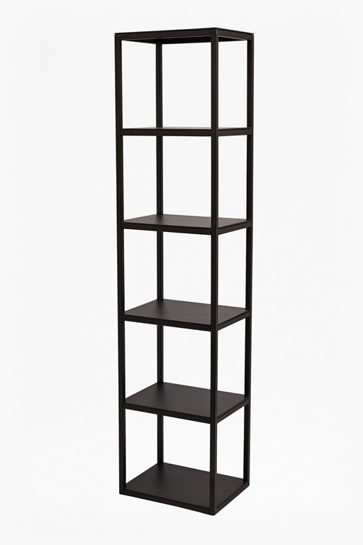 gunmetal shelving unit