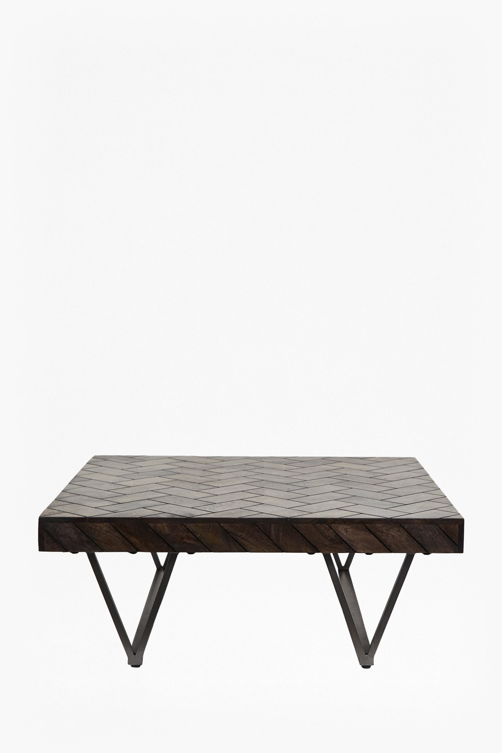 Parquet Wood Metal Coffee Tables Shine Your Light