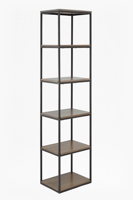 Industrial Timber Slim Shelving Unit