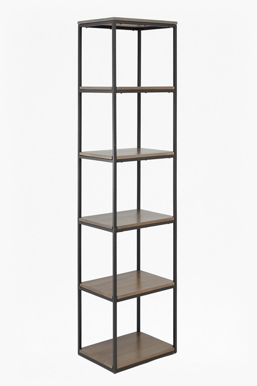 Complete the Look Industrial Timber Slim Shelving Unit