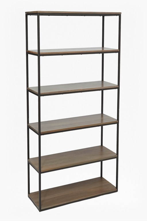 Complete the Look Industrial Timber Wide Shelving Unit