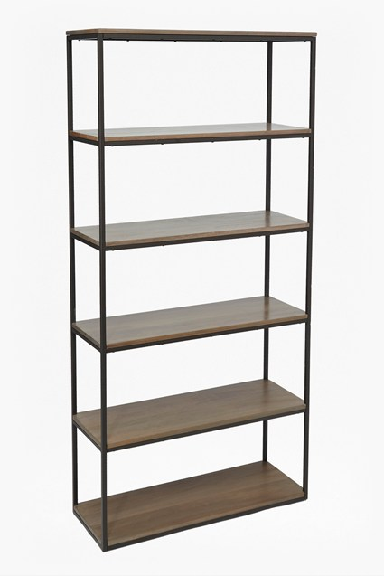 Industrial Timber Wide Shelving Unit