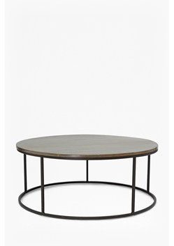 Industrial Timber Round Coffee Table