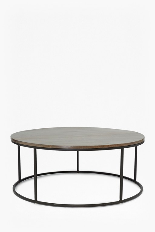 Complete the Look Industrial Timber Round Coffee Table