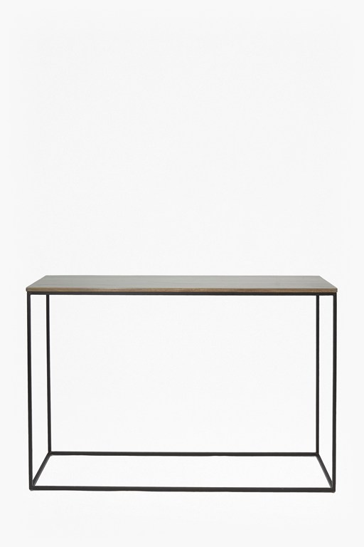 industrial timber console table
