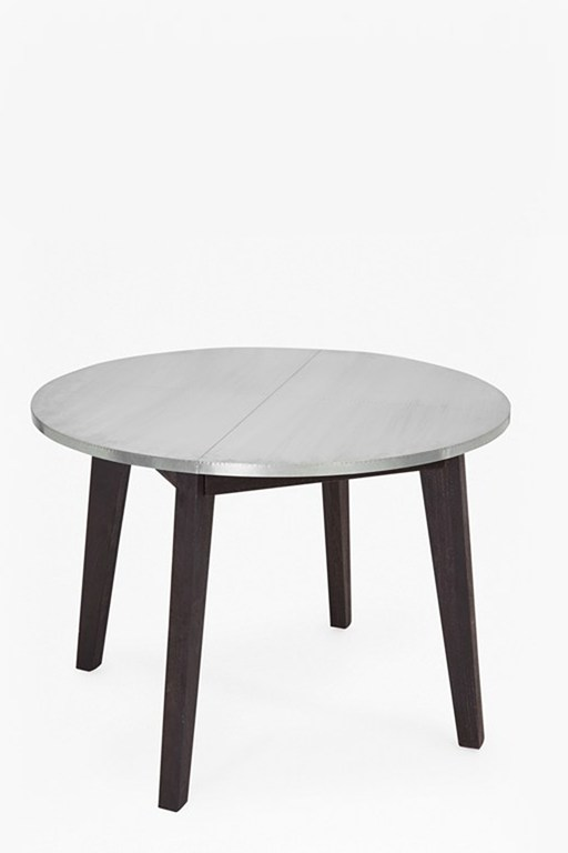 agra round zinc dining table