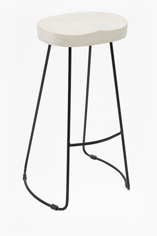 large natural roger barstool