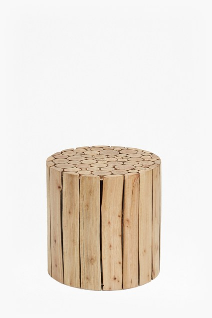 Eucalyptus Wood Side Table