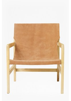 Elba Tan Leather Chair