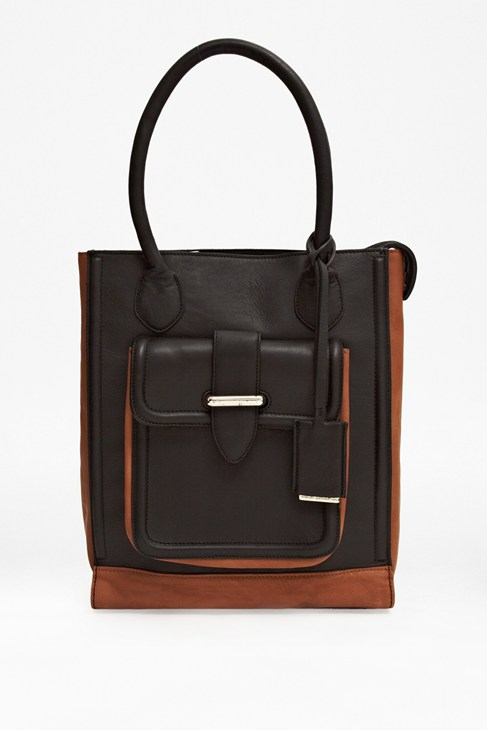 Greek Leather Pocket Tote