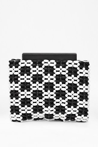 Mono Frame Beaded Clutch Bag