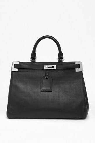 Air Of Elegance Handheld Leather Tote Bag