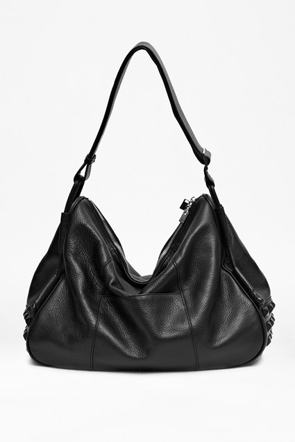Raven Studded Leather Bag