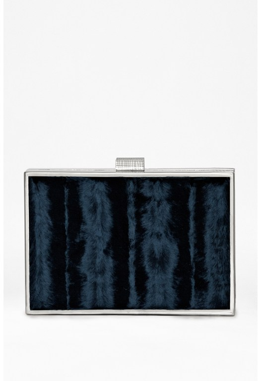 Bobbi Faux Fur Clutch