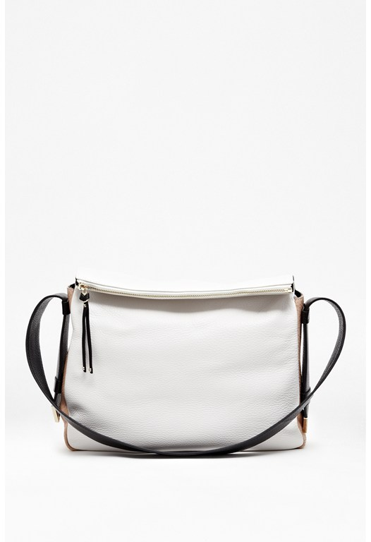 Flori Leather Colour Block Bag