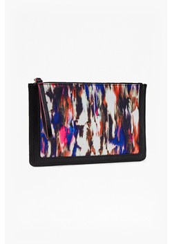 Record Ripple Canvas Clutch