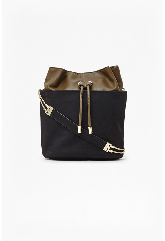 Naomi Suede Chain Bucket Bag