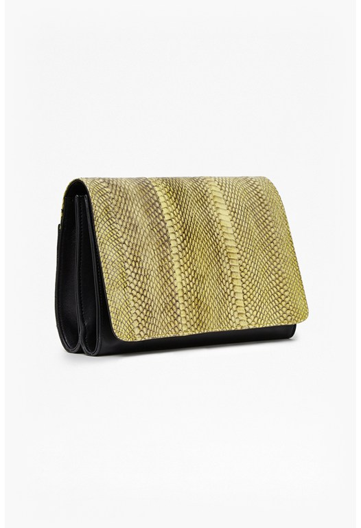 Polly Watersnake Shoulder Bag