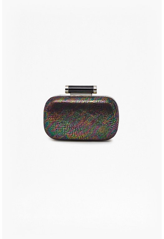 Iridescent Isabelle Box Clutch