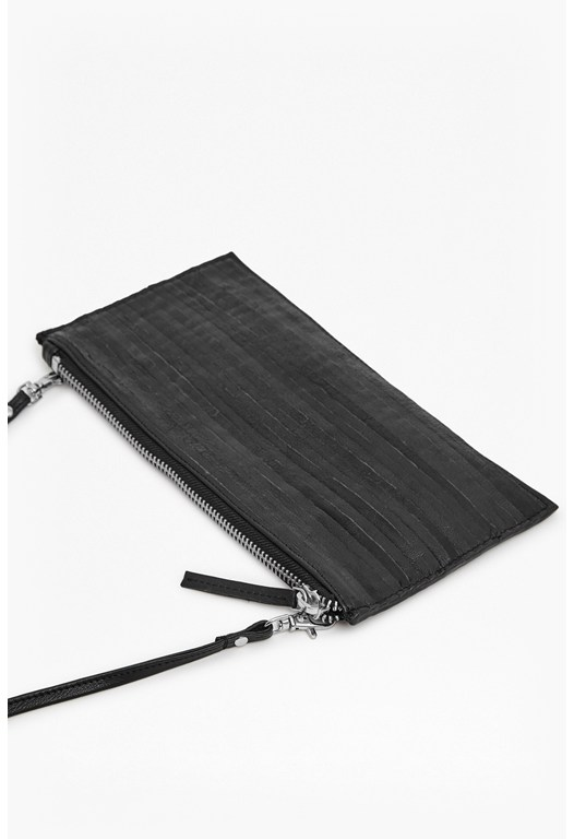 Flo Folded Leather Crossbody Clutch