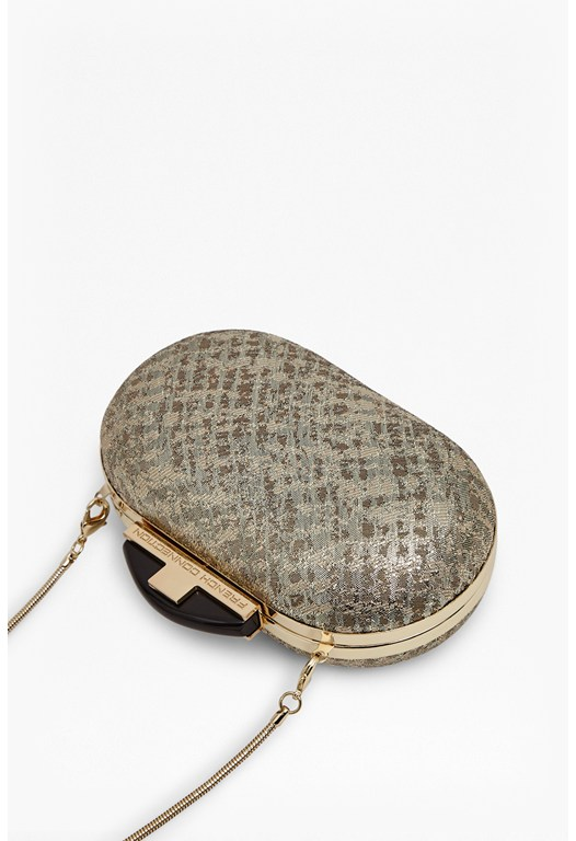 Steph Textured Box Clutch