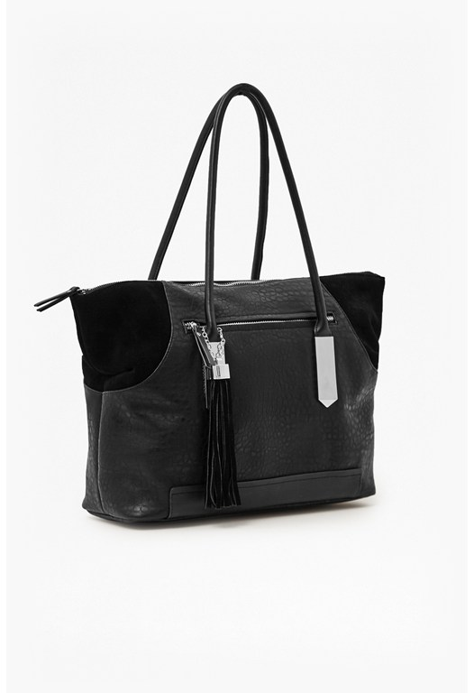 Camden Faux Leather Tote Bag