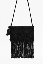 Looks Great With Macrame Suede Fringe Bag