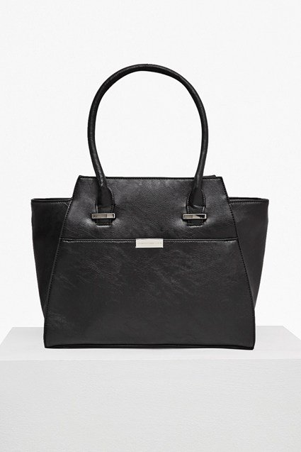 Branded  Faux Leather Tote