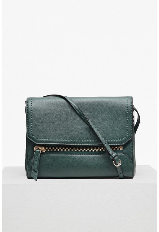 Super Zip Faux Leather Satchel