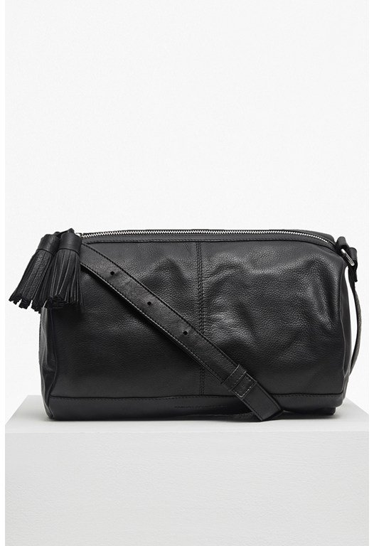 Henrietta Soft Leather Barrel Bag