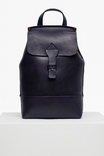 Raw Saddle Leather Backpack