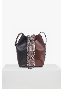 Robyn Whipstitch Faux Leather Bucket Bag