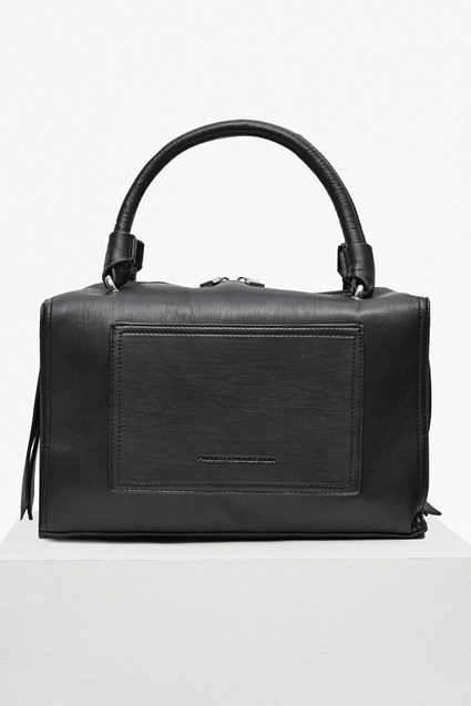 Stabstitch Faux Leather Boarded Bag